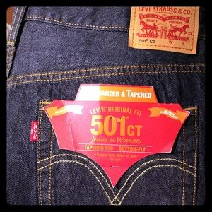 NWT! Levi's 501ct Cropped 30x32